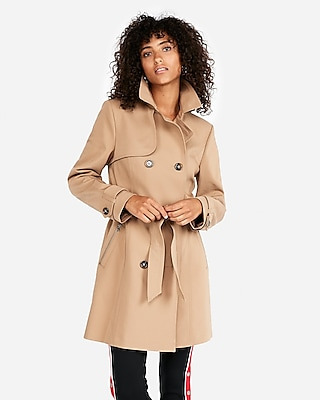 Express Womens Classic Double Breasted Trench Coat
