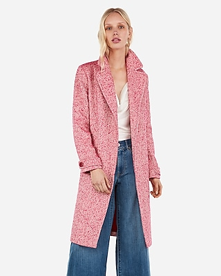 Express Womens Wool-Blend Tie Front Coat