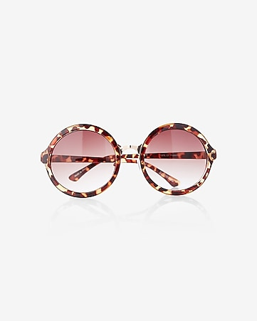 oversized round tortoise shell sunglasses