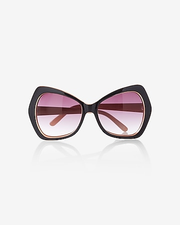 oversized angular butterfly sunglasses