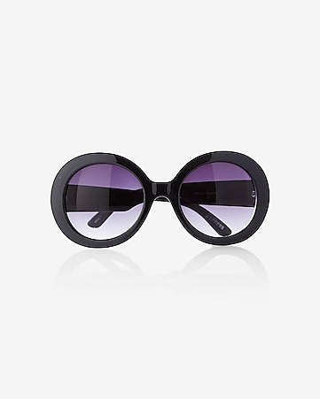 oversized thick round sunglasses
