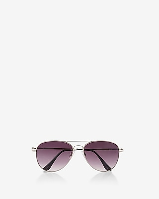 Express Womens Silver Aviator Sunglasses