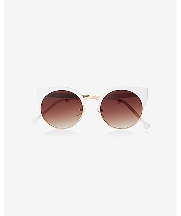 heavy brow cat eye sunglasses