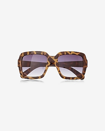tortoiseshell oversized square sunglasses
