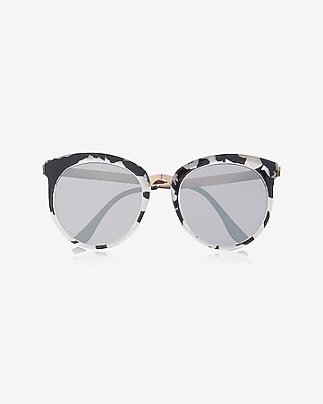 pearlized tortoiseshell cat eye sunglasses