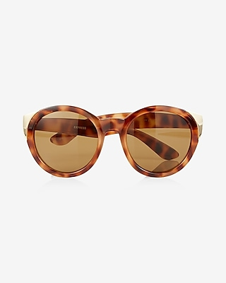 Express Womens Oversized Ombre Round Sunglasses