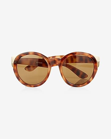 oversized ombre round sunglasses