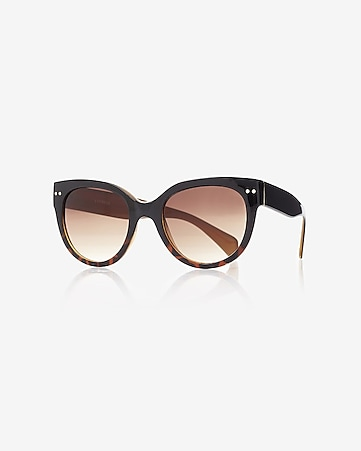 squared ombre cat eye sunglasses