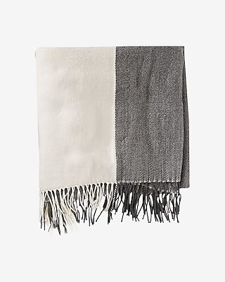 Express Womens Colorblock Blanket Scarf