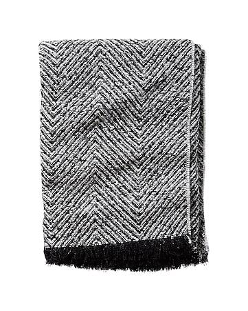 chevron tweed square scarf