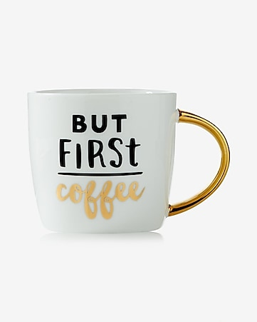 slant but first coffee ceramic mug