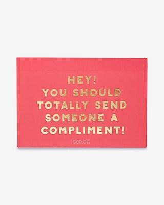 Express Womens Ban.do Compliment Postcard Book Multi