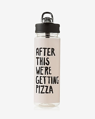 Express Womens Ban.do After This We're Getting Pizza Water Bottle