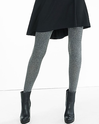 Gray Marled Full Tights
