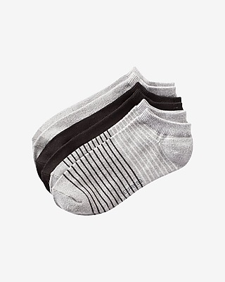 Express Womens 3-Pack Soft Solid And Stripe Ankle Socks