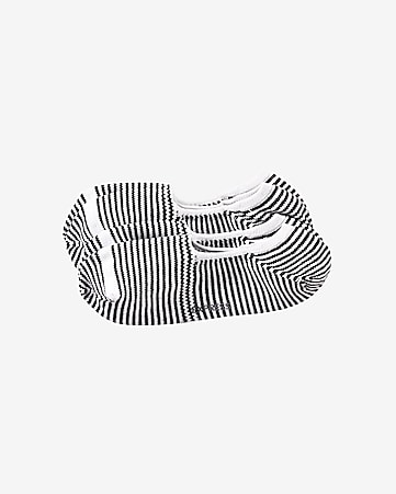2-PACK striped no show socks