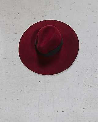 EXPRESS Women's Hats Red Express Edition Wide Brim Floppy Hat Red