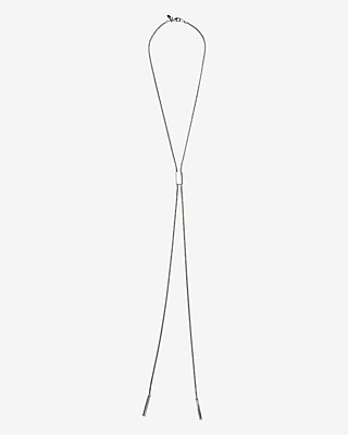 Express Womens Sleek Lariat Necklace