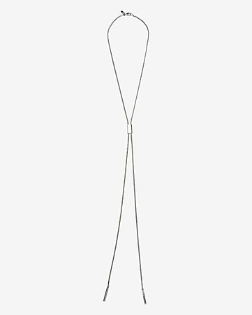 sleek lariat necklace