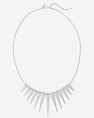graduated spike necklace