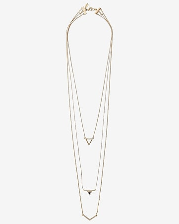 nested triangle necklace