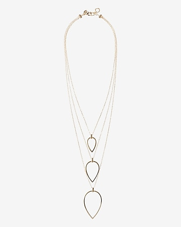 triple nested teardrop necklace