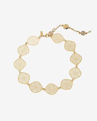 Express Womens Filigree Choker Necklace