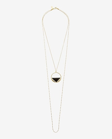 hi lo circle pendant necklace