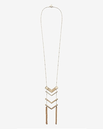 polished chevron ladder necklace