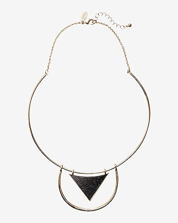 geo collar necklace