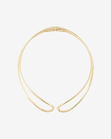 hinge curve open collar necklace