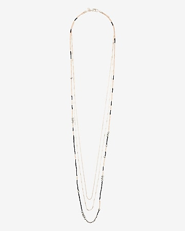 nested bead and chain necklace