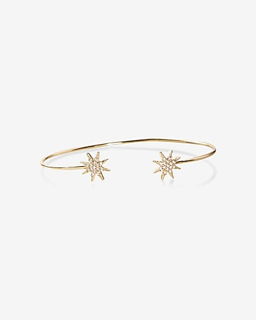 starburst tip open bangle bracelet