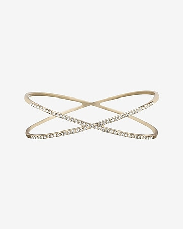 pave embellished crisscross bangle