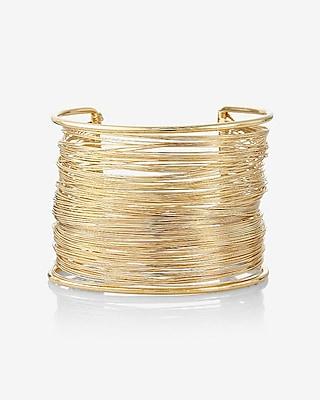 EXPRESS Women's Jewelry Wrapped Metal Cuff Bracelet Gold