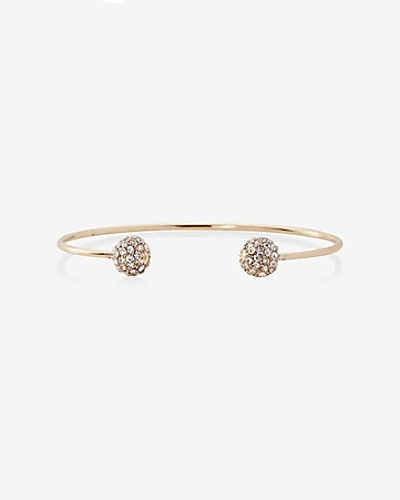double fireball open bangle bracelet