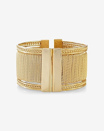wrapped metal hinge bracelet