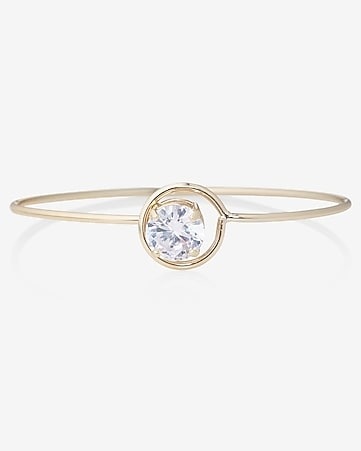 cubic zirconia prong hook bangle