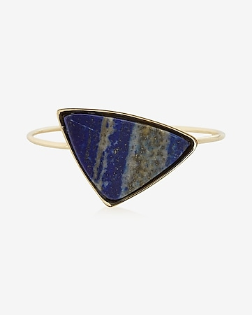triangle  stone bangle bracelet