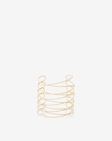 textured crisscross cuff