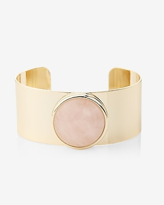 Express Womens Rose Quartz Cuff
