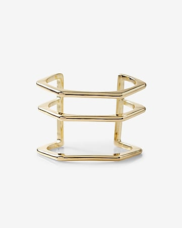 hexagonal cut-out cuff bracelet