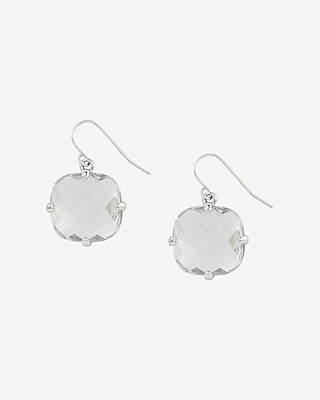 Express Womens Faceted Stone Dangle Earrings