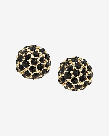 black fireball post earrings