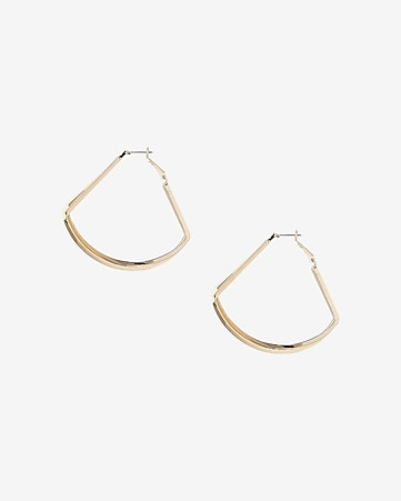 crisscross teardrop hoop earrings