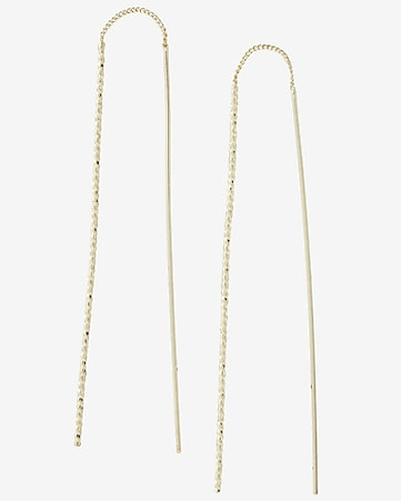 twisted stick pull through earrings