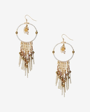 seedbead dreamcatcher earrings