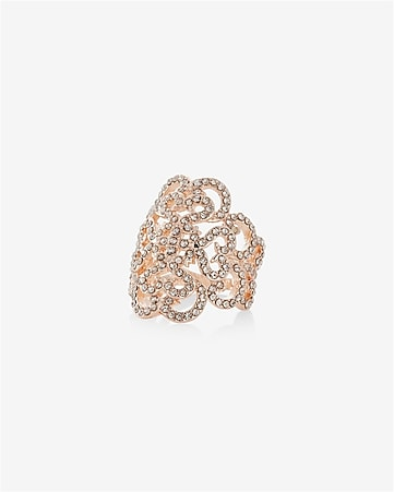 pave filigree scroll ring