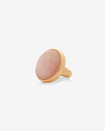 round rose quartz ring