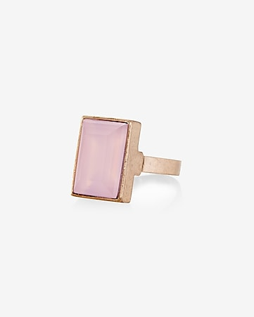 rectangle stone ring